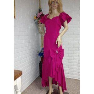 ILGWU Vintage Asymmetrical Hem Dress (10)
